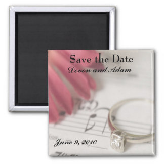 Save the Date - Daisy and Diamond Magnet