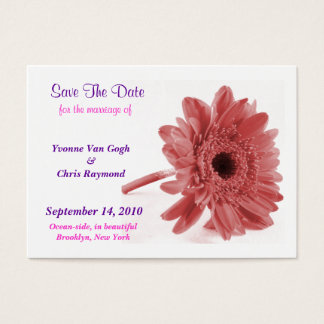 Save The Date Daisy Dusty Rose I Business Card