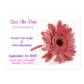 Save The Date Daisy Dusty Rose I Large Business Cards (Pack Of 100)