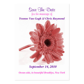 Save The Date Daisy Dusty Rose Large Business Cards (Pack Of 100)