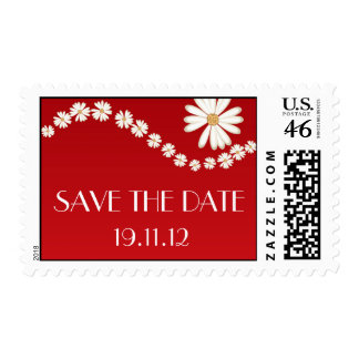 Save the Date Daisy Flower Stamp