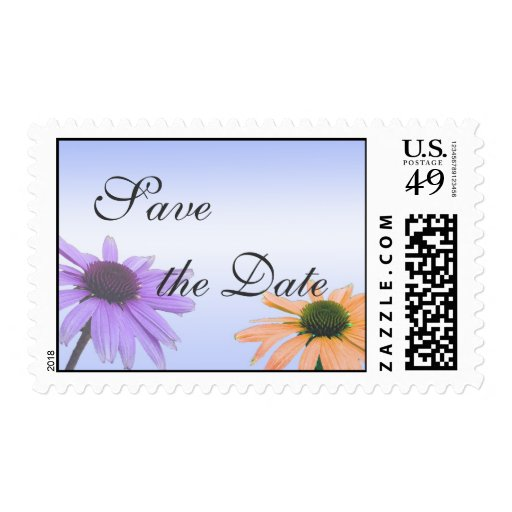 save the date,daisy flowers stamps