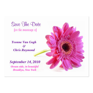 Save The Date Daisy Pink I Large Business Cards (Pack Of 100)