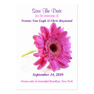 Save The Date Daisy Pink Large Business Card