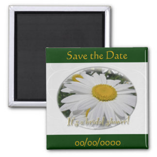 Save the Date Daisy Wildflower Bridal Shower Magnet