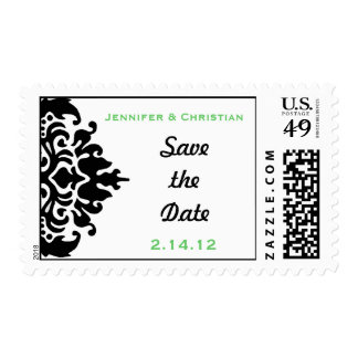 Save the Date Damask Postage Stamps