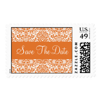 Save the Date Damask Wedding Postage