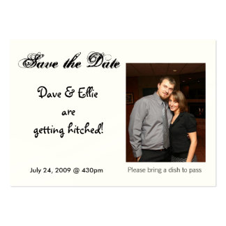 Save the Date, Dave & Ellie are g... Large Business Card