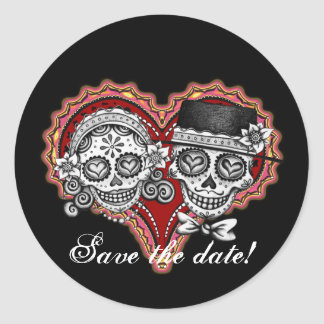 Save the Date Day of the Dead Stickers