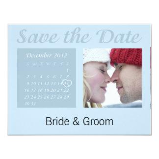 Save the Date December 2012 Calendar Card