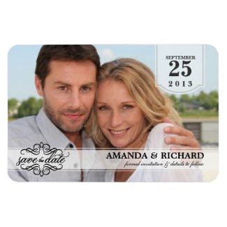 Save the Date - Deluxe Borderless Photo Magnets
