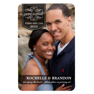 Save the Date - Deluxe Full Photo Custom Magnets