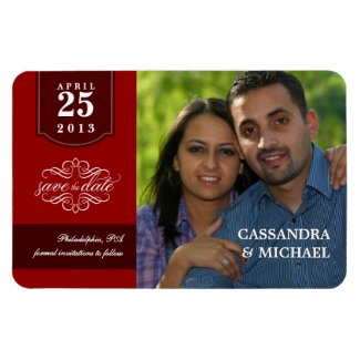 Save the Date Deluxe Magnets with Your Photo