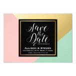 Save the Date design. Card
