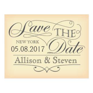 Save the date design postcard