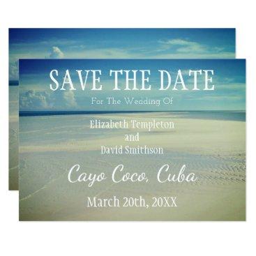 Save the Date Destination Beach Wedding Card