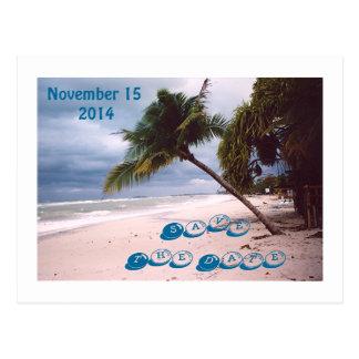 SAVE THE DATE /DESTINATION WEDDING/BEACH SCENE POSTCARD