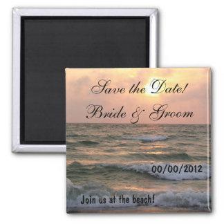 """Save the Date"" Destination Wedding Magnet"