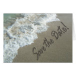 Save the Date Destination Wedding Sand Writing Card