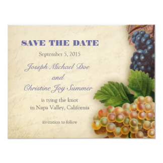 Save the Date Destination Winery Wedding Card