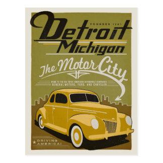 Save the Date | Detroit, MI Postcard