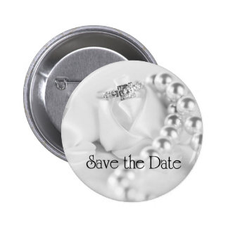 Save the Date Diamond Engagement Ring Button