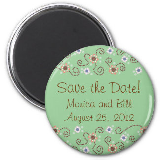 Save the Date Dot Magnet