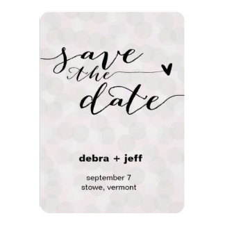 Save the Date Dots Card