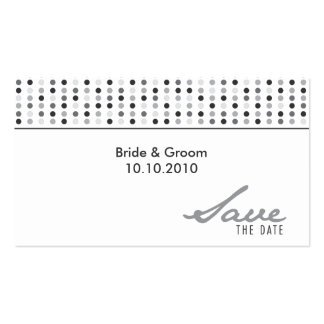 Save The Date - Dots Double-Sided Standard Business Cards (Pack Of 100)