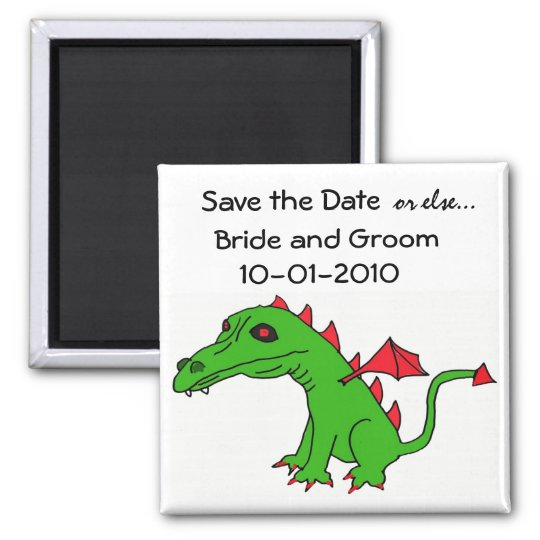 Save the Date Dragon Magnet