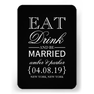 Save the Date | Eat Drink And Be Married Personalized Invite
