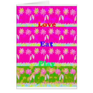 Save the date Eat Love and PLay.png Greeting Card