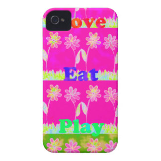 Save the date Eat Love and PLay.png iPhone 4 Case-Mate Case