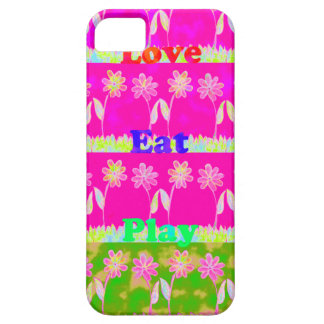 Save the date Eat Love and PLay.png iPhone SE/5/5s Case