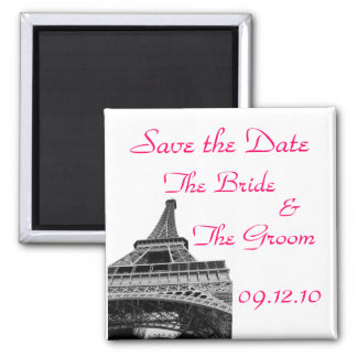 Save the Date Eiffel Tower Magnet