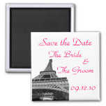 Save the Date Eiffel Tower Refrigerator Magnets