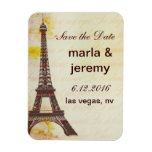 Save the Date Eiffel Tower style Vinyl Magnet
