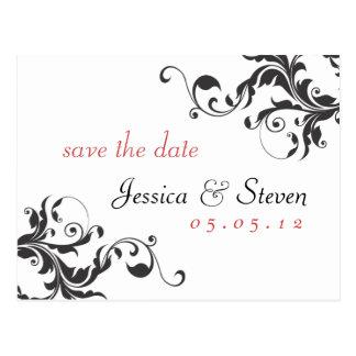 Save the Date Elegant 01 Postcard