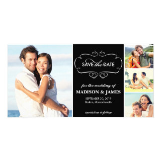 Save the Date   Elegant Curves White Announcement