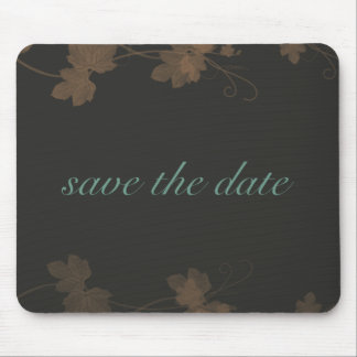 Save The Date Elegant Fall Mouse Pad