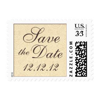 Save the Date Elegant Floral Postcard Postage