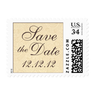 Save the Date Elegant Floral Postcard Postage