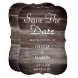 Save the Date Elegant Rustic Wood textured Card