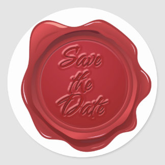 Save the Date Elegant Wax Seal Effect