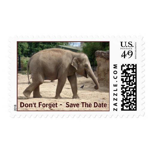 Save The Date - Elephants Never Forget Stamp