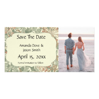 Save the Date Engagement Announcement Floral