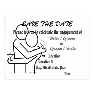 Save the Date Engagement Announcement Post Card
