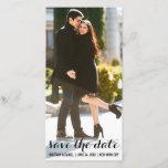 """Save The Date Engagement Modern Photo Card LV<br><div class=""""desc"""">Save The Date Engagement Modern Photo Card Long</div>"""