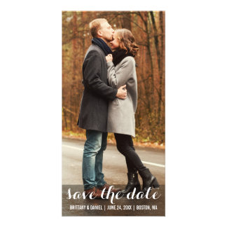 Save The Date Engagement Modern Photo Card LWBV