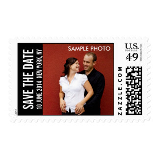 Save the Date Engagement Photo Postage Stamps